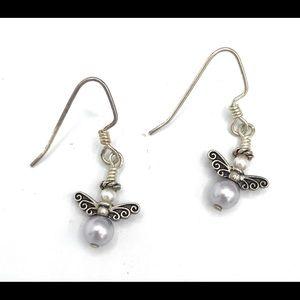 Petite angel earrings (case 1)  #902